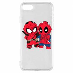 Чехол для iPhone 7 Дэдпул и Человек паук