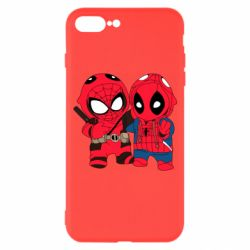Чехол для iPhone 7 Plus Дэдпул и Человек паук