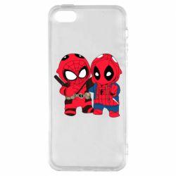 Чехол для iPhone5/5S/SE Дэдпул и Человек паук
