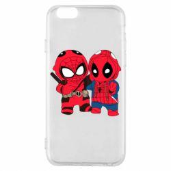Чехол для iPhone 6/6S Дэдпул и Человек паук