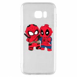 Чехол для Samsung S7 EDGE Дэдпул и Человек паук