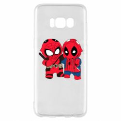 Чехол для Samsung S8 Дэдпул и Человек паук