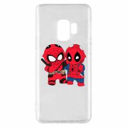 Чехол для Samsung S9 Дэдпул и Человек паук