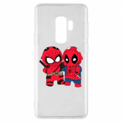 Чехол для Samsung S9+ Дэдпул и Человек паук