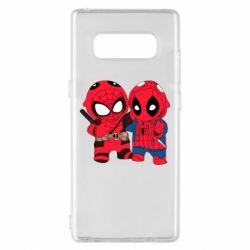 Чехол для Samsung Note 8 Дэдпул и Человек паук
