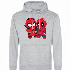 Мужская толстовка Дэдпул и Человек паук