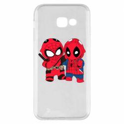 Чехол для Samsung A5 2017 Дэдпул и Человек паук