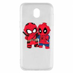 Чехол для Samsung J5 2017 Дэдпул и Человек паук