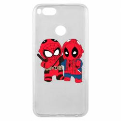Чехол для Xiaomi Mi A1 Дэдпул и Человек паук