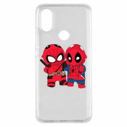 Чехол для Xiaomi Mi A2 Дэдпул и Человек паук