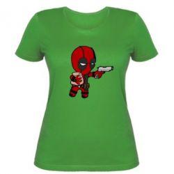 Женская футболка Дедпул с пакетиком - FatLine