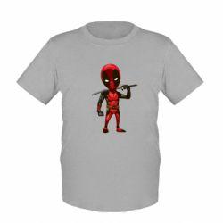 Детская футболка Дэдпул - FatLine