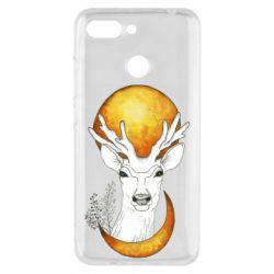 Чехол для Xiaomi Redmi 6 Deer and moon