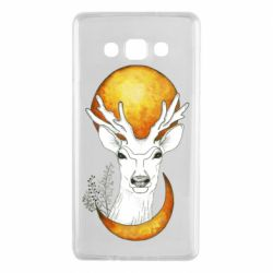 Чехол для Samsung A7 2015 Deer and moon