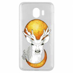 Чехол для Samsung J4 Deer and moon