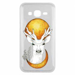 Чехол для Samsung J5 2015 Deer and moon