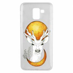 Чохол для Samsung J6 Deer and moon
