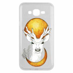 Чехол для Samsung J7 2015 Deer and moon