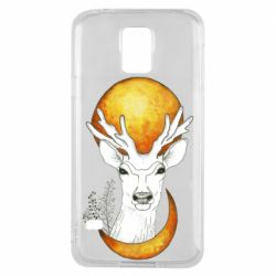 Чехол для Samsung S5 Deer and moon