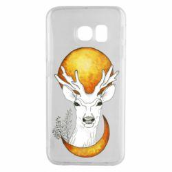 Чехол для Samsung S6 EDGE Deer and moon