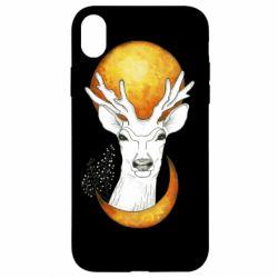 Чехол для iPhone XR Deer and moon