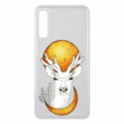 Чохол для Samsung A7 2018 Deer and moon
