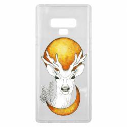 Чехол для Samsung Note 9 Deer and moon
