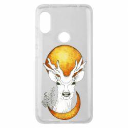 Чехол для Xiaomi Redmi Note 6 Pro Deer and moon