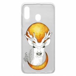 Чехол для Samsung A20 Deer and moon