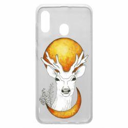 Чехол для Samsung A30 Deer and moon