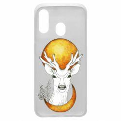 Чехол для Samsung A40 Deer and moon