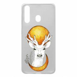 Чехол для Samsung A60 Deer and moon