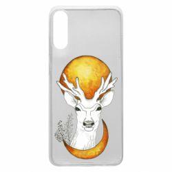 Чехол для Samsung A70 Deer and moon