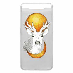 Чехол для Samsung A80 Deer and moon