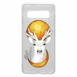 Чехол для Samsung S10 Deer and moon