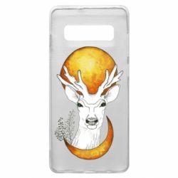 Чехол для Samsung S10+ Deer and moon