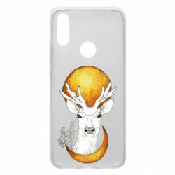 Чехол для Xiaomi Redmi 7 Deer and moon