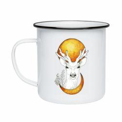 Кружка емальована Deer and moon