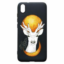 Чехол для Xiaomi Redmi 7A Deer and moon