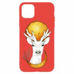 Чехол для iPhone 11 Deer and moon