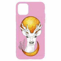 Чехол для iPhone 11 Pro Deer and moon