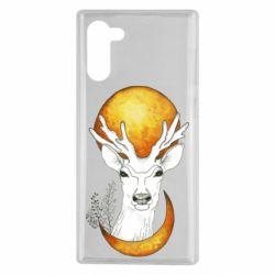 Чехол для Samsung Note 10 Deer and moon