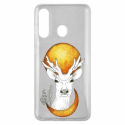 Чехол для Samsung M40 Deer and moon