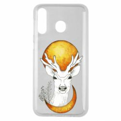 Чехол для Samsung M30 Deer and moon