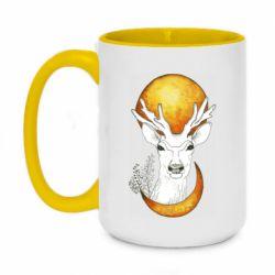 Кружка двухцветная 420ml Deer and moon