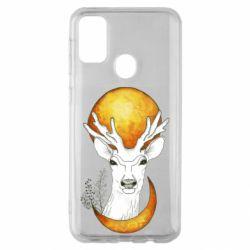 Чехол для Samsung M30s Deer and moon