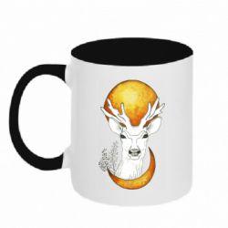 Кружка двоколірна 320ml Deer and moon