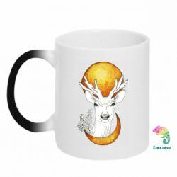 Кружка-хамелеон Deer and moon