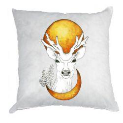 Подушка Deer and moon