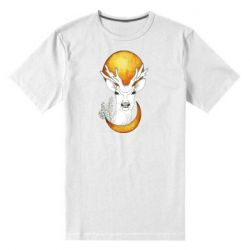Чоловіча стрейчева футболка Deer and moon